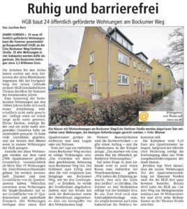WA Artikel, Neubau Bockumer Weg
