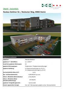 HGB Hamm Datenblatt Neubau - Stettiner-Str, Ecke Bockumer Weg